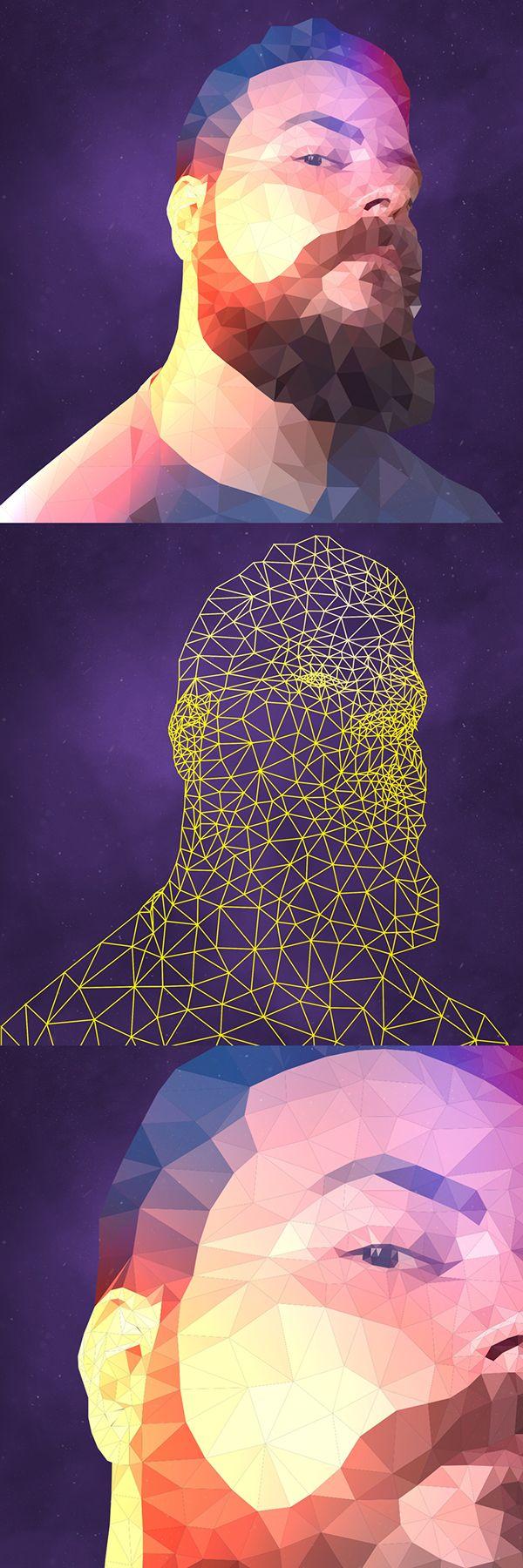 Low Poly Self Portrait on Behance