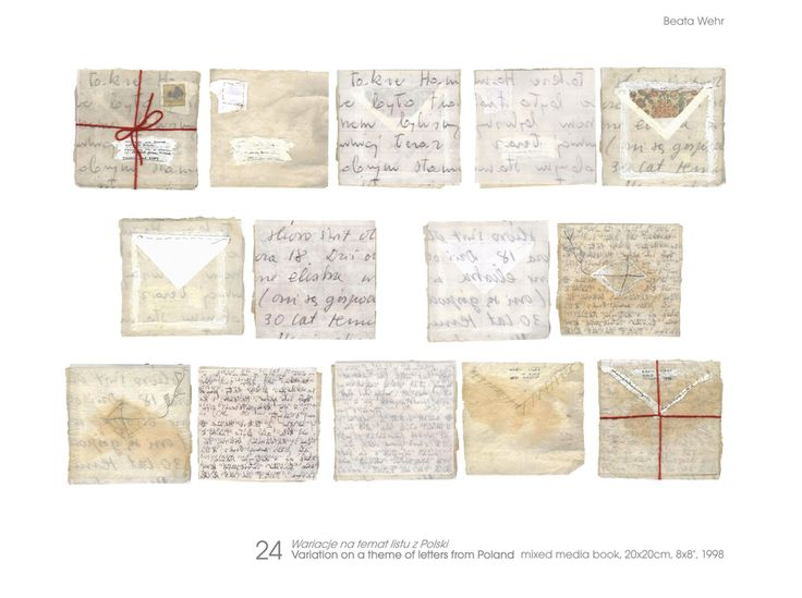 Artist's Books by Beata wehr / Variation on a theme of letters from Poland