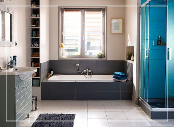 17 best images about salles de bains on pinterest coins - Idees rangements de salle de bain pour gagner de la place ...