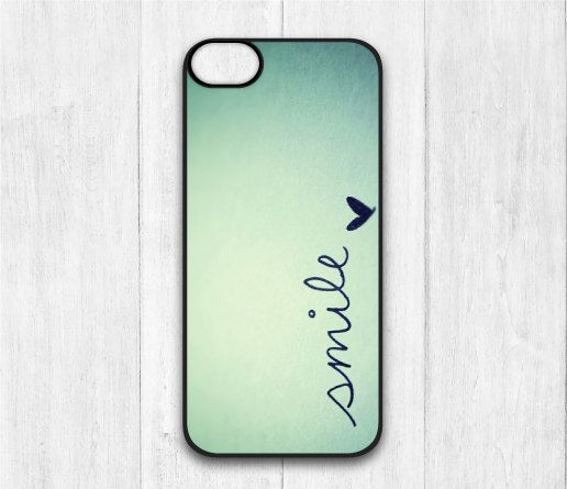Items similar to Smile iPhone 5C case, iphone 5C hard cover, Mint cover skin case for iphone 5C , Hard / Rubber case on Etsy