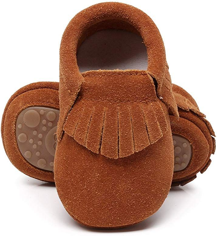 Hongteya Leather Baby Moccasins Hard Soled Tassel Crib Toddler Shoes For Boys And Gir Leather Baby Moccasins Baby Moccasin Shoes Toddler Boy Shoes