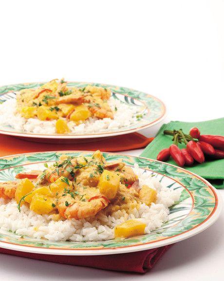 #Curry di #gamberi al #mango #ricetta #thai #senzaglutine #cooking
