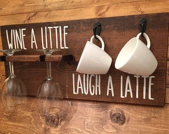 But First Coffee / Wood Sign / Mug Holder / Kitchen by CestlEvi