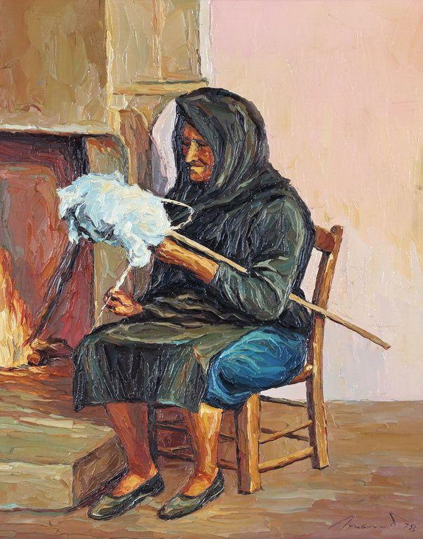 Ροβίθης Μάνος – Manos Rovithis [1927-1998] Γριά, Old woman, 1978