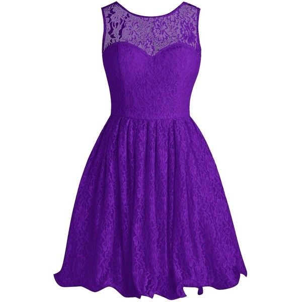Tideclothes Short Lace Bridesmaid Dress Cute Bowtie Prom Evening Dress ($88) ❤ liked on Polyvore featuring dresses, cocktail prom dress, purple bridesmaid dresses, lace prom dresses, lace bridesmaid dresses and purple dresses