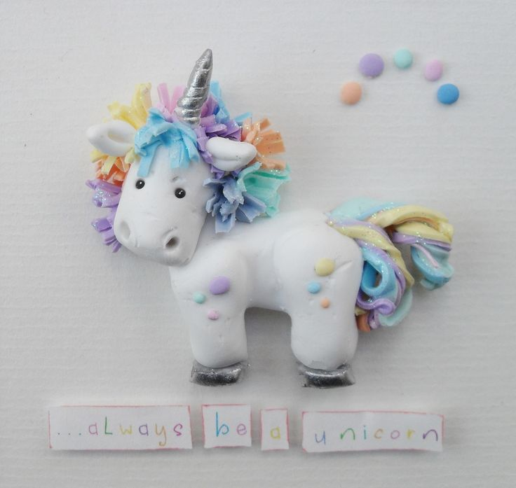 Unicorn Polymer Clay https://www.facebook.com/ItsyBitzyuk
