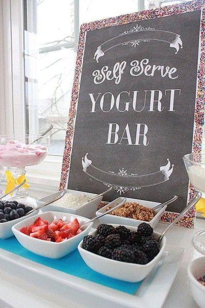 ideias cha - mesa de iogurte