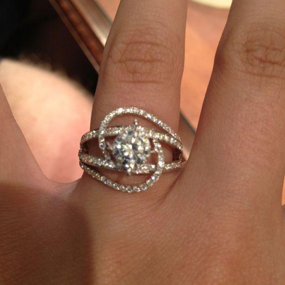 25 best ideas about Round Diamond Ring on Pinterest