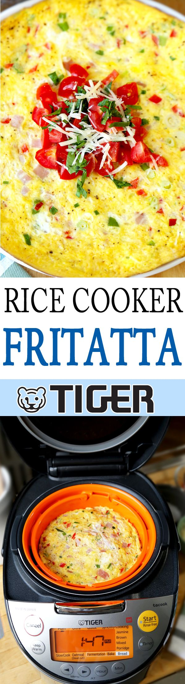 Frittata with Rice | Rice Cooker Recipe