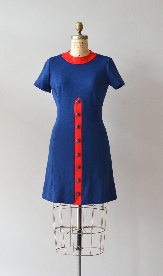 vintage 60s dress / mod 1960s dress / Push it Along by DearGolden, $84.00