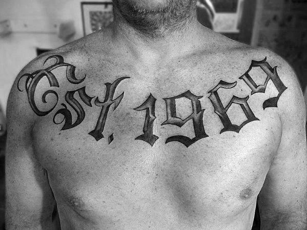 30 Est Tattoo Designs For Men Birth Year Ink Ideas In 2020 Est Tattoos Tattoo Designs Men Tattoos