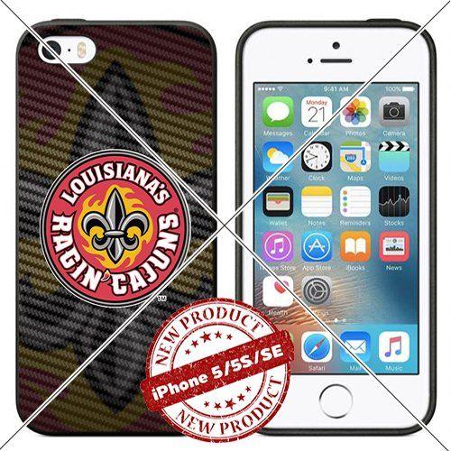 iPhone SE 5/5s TPU Case Louisiana Ragin Cajuns Logo Cellp…