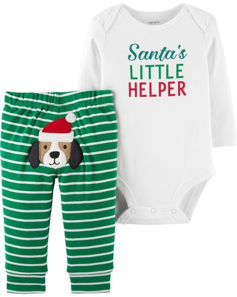 36d7e864b171 2-Piece Christmas Bodysuit Pant Set | Products | Kids outfits, Kids ...