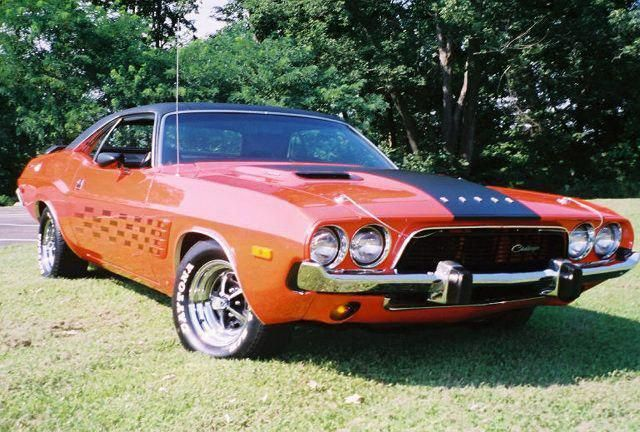 1973 Dodge Challenger Love This My Dad Got Me This For My First Car It Was Blue With A Black Vinyl Top Miss It Dodg Classic Cars Muscle Cars Cars