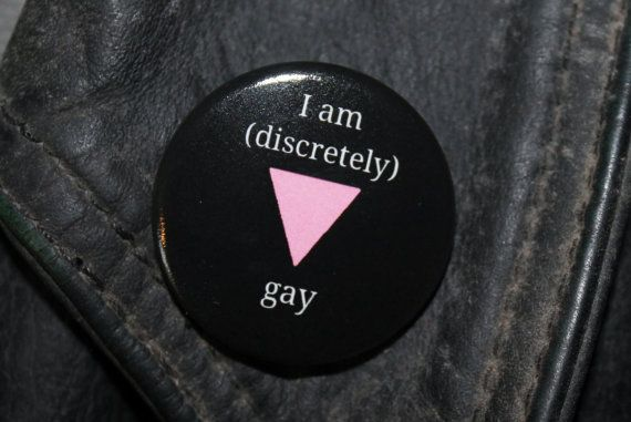 I am discretely gay badge inspired by the film by ThatLovelyBrooch
