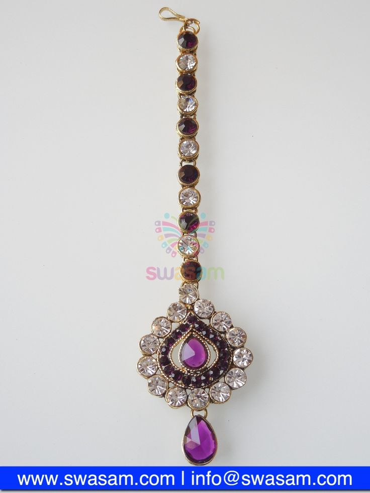 Indian Jewelry Store | Swasam.com: Tikka with Perls and White Stones - Tikka - Jewelry Shop to Buy The Best Indian Jewelry  http://www.swasam.com/jewelry/tikka/tikka-with-perls-and-white-stones-1310.html?___SID=U  #indianjewelry #indian #jewelry #tikka