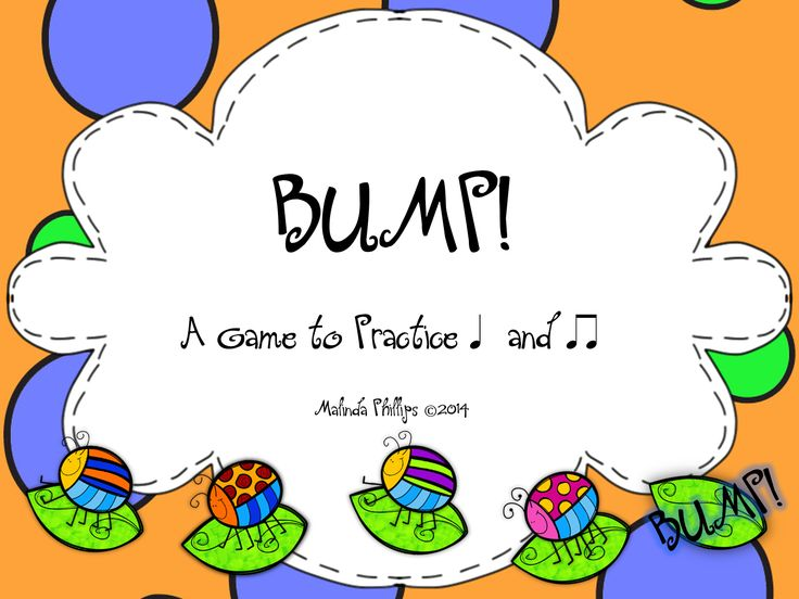 Fans Only FREEBIE--Bump! A Buggy Game to Practice Ta and Ti-Ti for the Kodaly and Orff Elementary Music Classroom