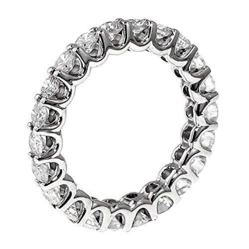 266 CT TW Round Diamond Eternity Wedding Band in 14k White Gold Uprong Setting  Size 12 *** You can get more details by clicking on the image.