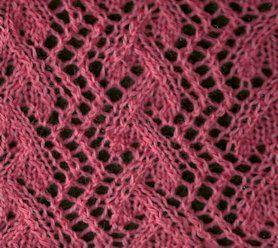 Grapevine Lace Knitting Pattern : Trellis Grapevine - Knittingfool Stitch Detail Knitting ...