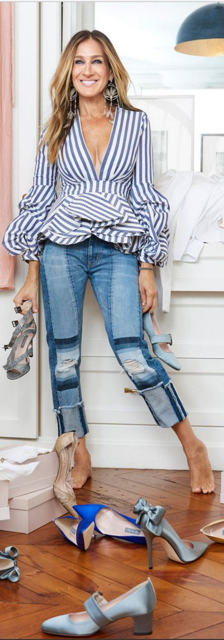 -Sarah Jessica Parker in Shirt – Johanna Ortiz Shoes.
