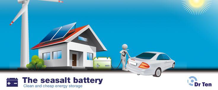 De zeezout batterij is een natuurlijke, schone batterijbatterij geschikt voor de stationaire opslag van bv zonne-energie, windenergie of het tijdelijk opslaan van elektriciteit uit het net. Ook kan deze als laadpaal fungeren bij het opladen van elektrische auto's. Recentelijk won de zeezout batterij de Jan Terlouw innovatieprijs. De batterij heeft zeezout als belangrijkste component en koolstof als electrode materiaal. Een batterij die in prototype testen al meer dan 7000 cycli draaide…