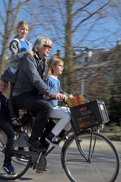 The Dutch use their bicycles in various ways. #Netherlands #bicycles