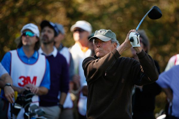 Clint Eastwood Photos Photos - Actor Clint Eastwood tees off on the second hole during the 3M Celebrity Challenge prior to the AT&T Pebble Beach National Pro-Am at Pebble Beach Golf Links on February 10, 2016 in Pebble Beach, California. - AT&T Pebble Beach National Pro-Am - Preview Day 3
