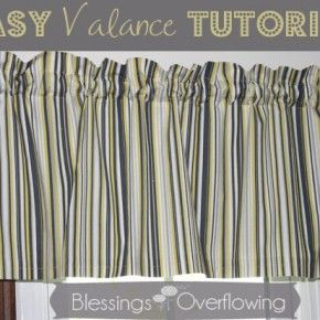 Here's a tutorial for how to easily make valances for your windows.