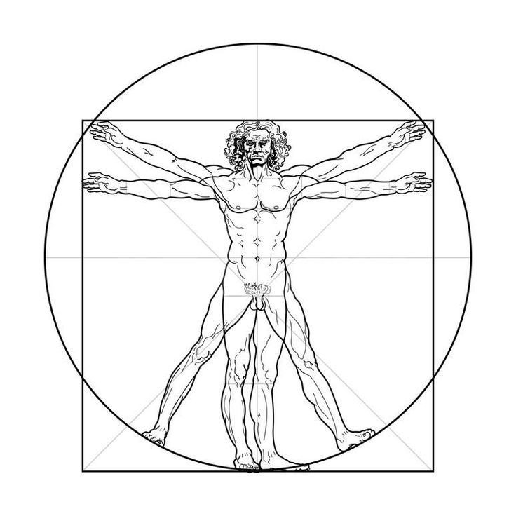 The Vitruvian Man, or Leonardo's Man Art Print by Green Ocean at Art.com
