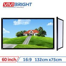 VIVIBRIGHT 16:9 Portable Projector Screen 60 inch PVC for Home theater Travel. |  Free Shipping | #aliexpress_gadgets #aliexpress_products #aliexpress_men #aliexpress_home #Best_Product_Aliexpress #AliExpress_OnlineStore  #Aliexpress_Hot Promo  #AliExpress #portableprojectorscreen