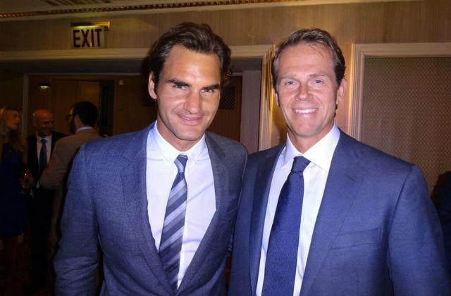 Roger Federer and Stefan Edberg
