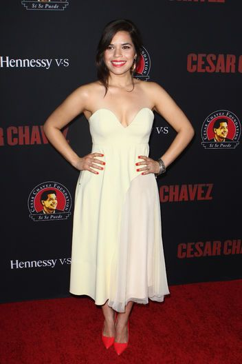 America Ferrera in Sportmax (love the bright pumps!)