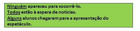 Pronomes indefinidos - Português
