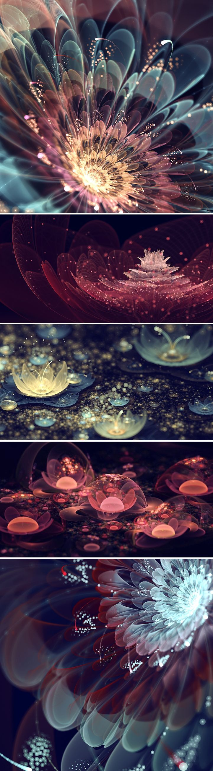 Italy-born artist Silvia Cordedda creates extraordinarily beautiful fractal flowers that look like they could only exist in our dreams or in a wonderfully magical world.