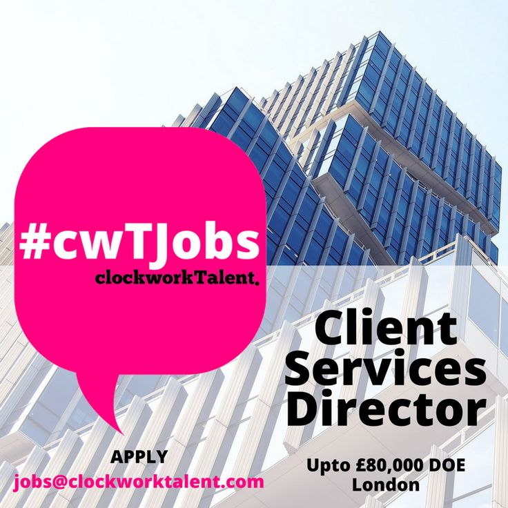 Client Services Director to join #Shoreditch based Organic Digital Boutique Agency  You'll engage across a variety of departments within the agency including SEO, Sales, Financial Services and Marketing to improve the overall process of client acquisition, delivery of client work and performance reporting.  Upto £80,000 DOE Apply: http://www.clockworktalent.com/digital-marketing-jobs/view/client-services-director-london #homeimprovementagencyLondon,