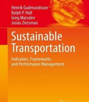 Sustainable Transportation: Indicators Frameworks And Performance Management PDF
