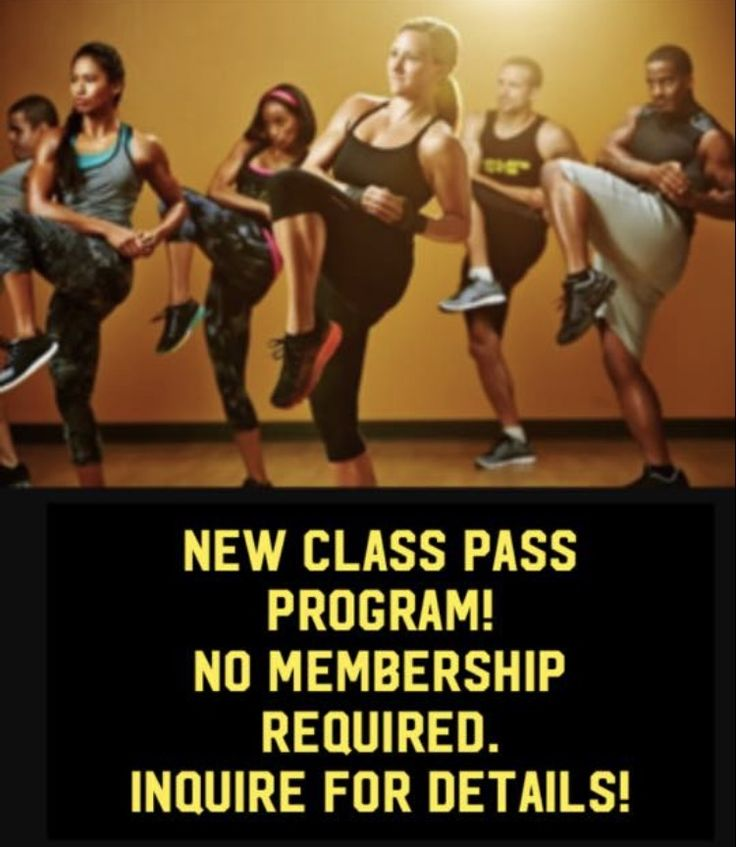 New 'class pass' program. Purchase our classes only ... no gym membership required!