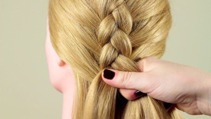 """Французская коса """"Обратная"""". Basic french braid """"Reverse"""""""