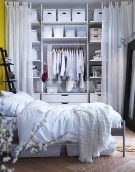 Ikea bedroom closet idea using the STOLMEN system