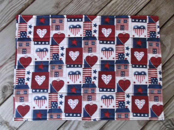 Americana fabric placemats quilted placemats by 3Jenerations