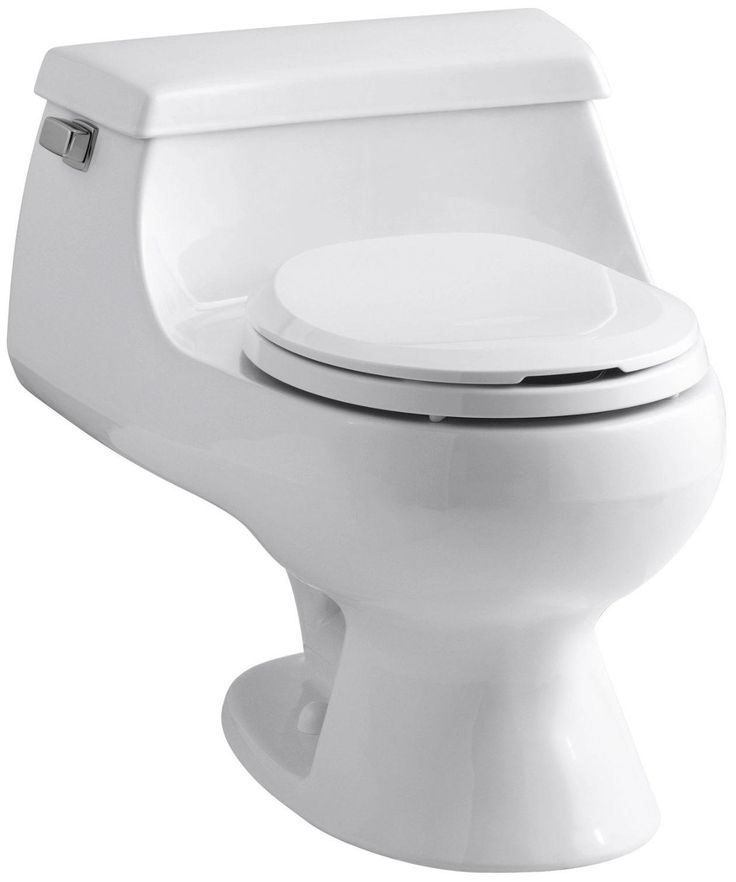 Kohler K 3386 0 Rialto One Piece Round Front Toilet With