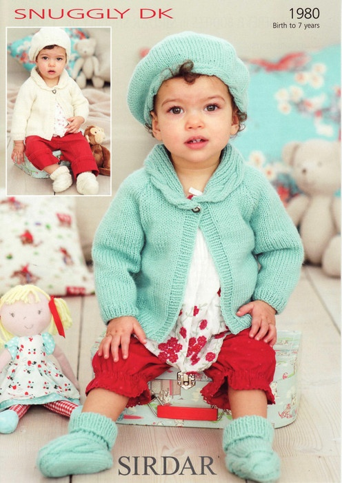 Sirdar--Jacket, Beret & Bootees (birth to 7 years)