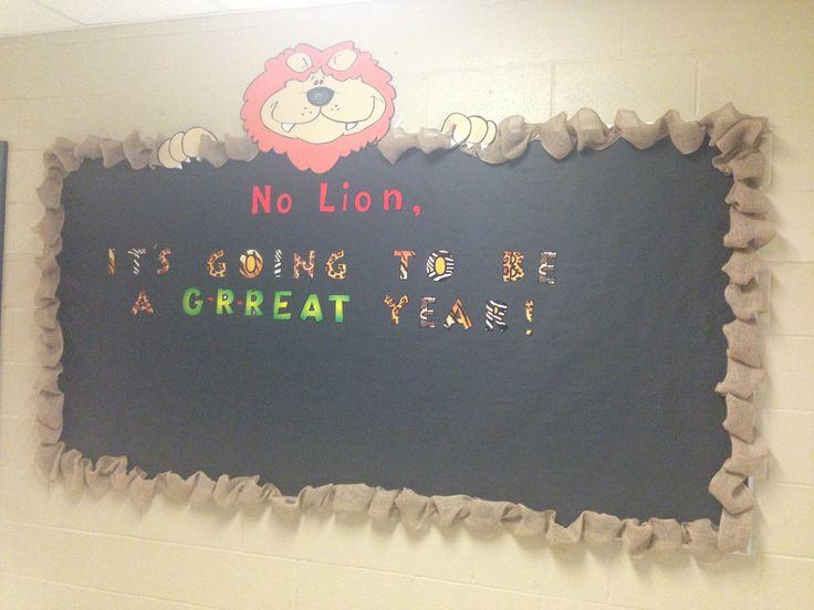 Jungle safari theme back to school board
