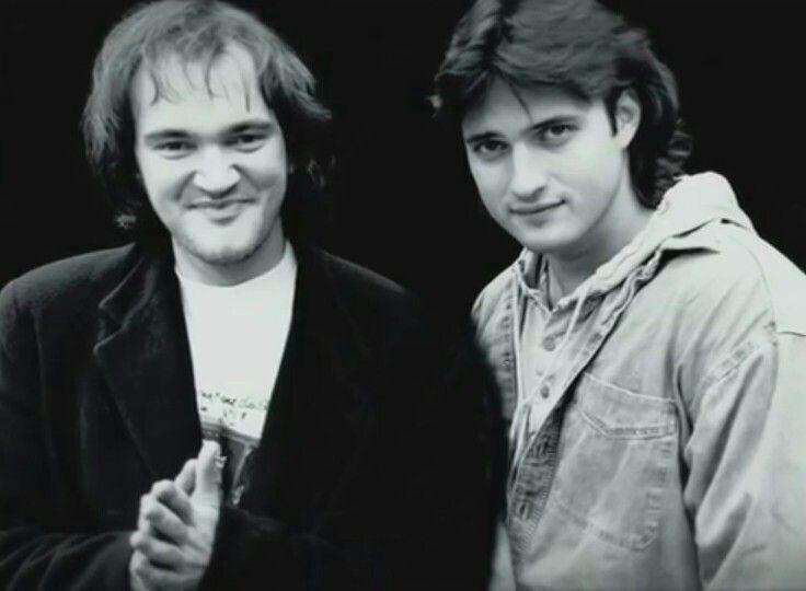 Quentin Tarantino and Robert Rodriguez, young ❤