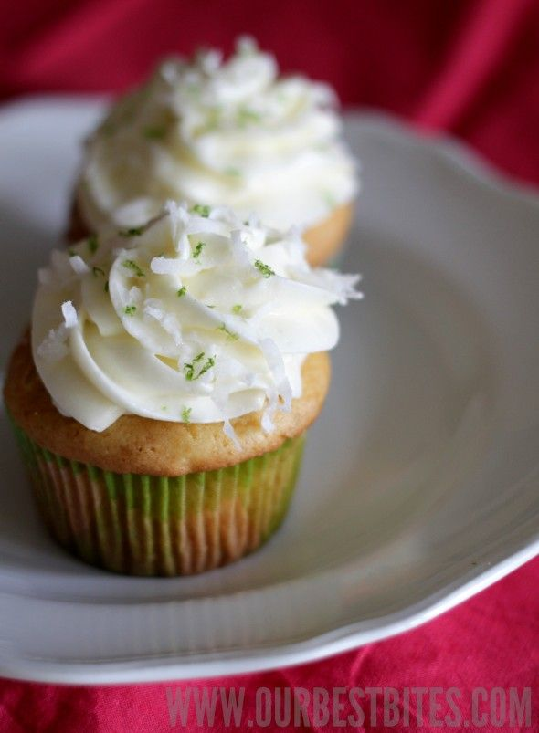 Coconut Lime Cupcakes | Just Desserts Cuz I like them a lot | Pintere ...