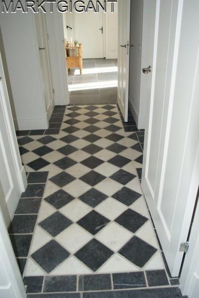 zwart wit vloeren natuursteen - Google Search