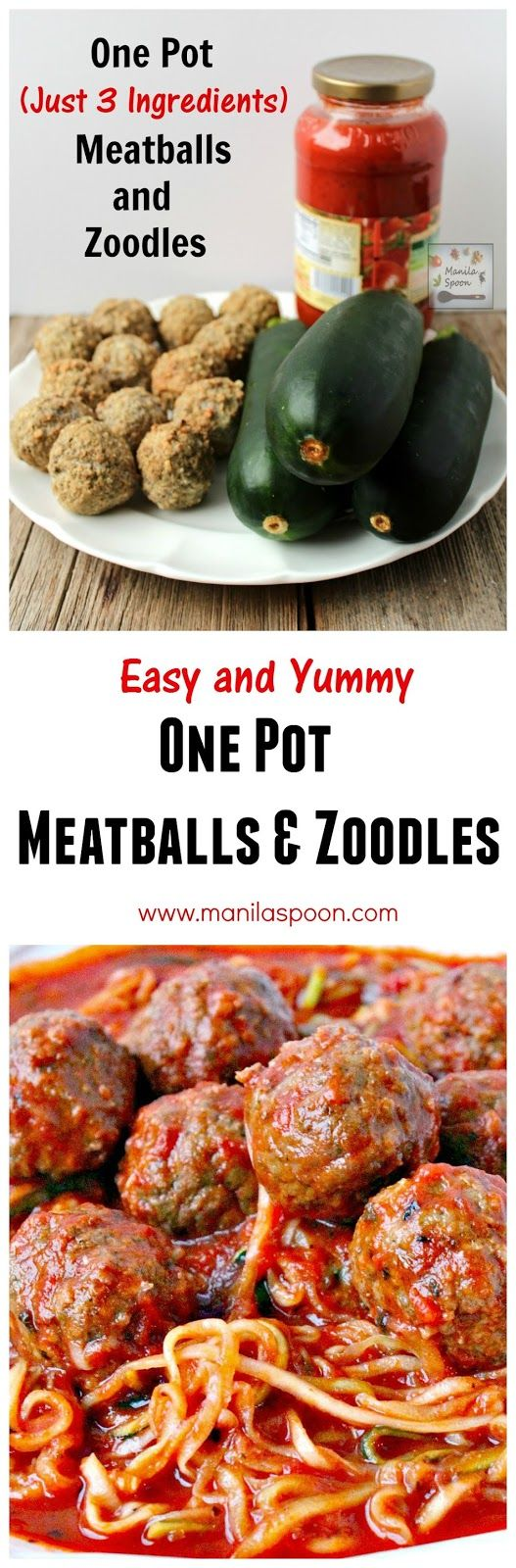 One pot meatballs and zoodles zucchini noodles for Zucchini noodles and meatballs recipe