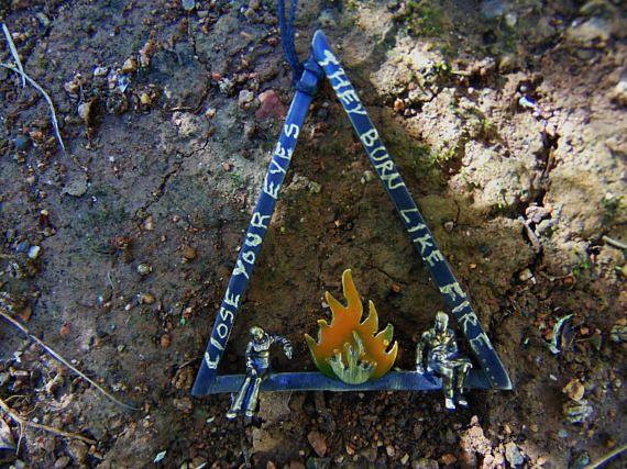 Triangle Necklace Geometric Jewelry Triangle Jewelry