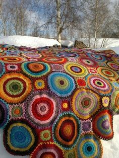 Beautiful Crochet Blanket would be perfect to use up all that left over yarn.  One of these day I am going to make this!