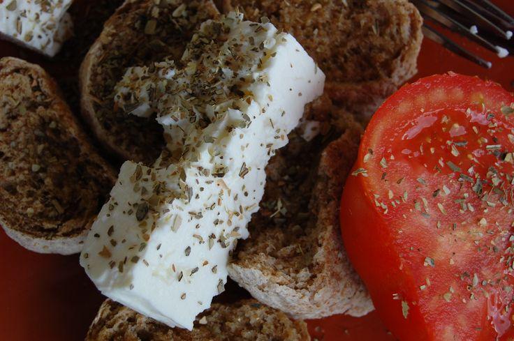Dakos breakfast, Crete
